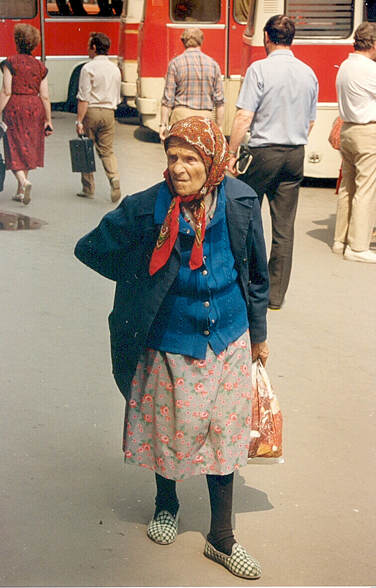 Stylish grandmother. (Babushka)